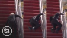 Biden Repeatedly Falls While Going Up Stairs to AF1...Internet EXPLODES