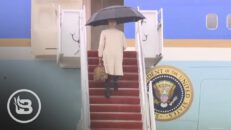 Joe Biden Nearly Falls Again Walking up the Stairs to Air Force One