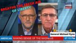Explosive, Fiery John Michael Chambers Interview With America's General Michael Flynn - American Media Periscope