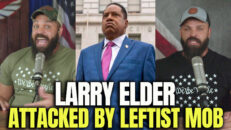 Larry Elder Attacked By Leftist Mob - HodgeTwins