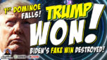 FIRST DOMINO FALLS w/ MORE TO COME! Fake 'Biden Won' Deep State Lie EXPOSED & PROOF That TRUMP WON! - James RedPills America